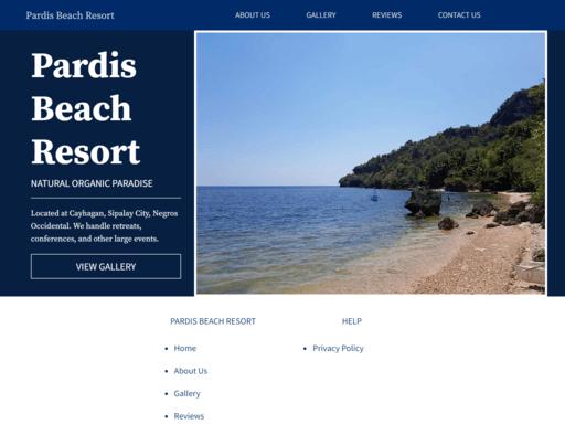 pardis-beach-resort-website